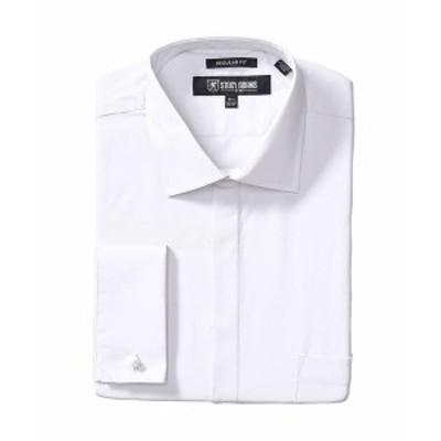 ステイシーアダムス メンズ シャツ トップス Big & Tall 39000 Solid Dress Shirt White