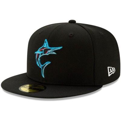 マーリンズ キャップ ニューエラ New Era 59FIFTY Fitted Hat MLB 2021スプリングトレーニング ブラック 21nrs
