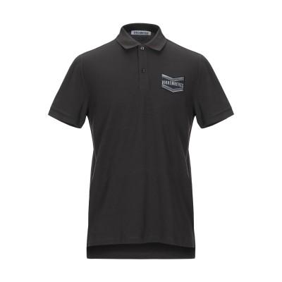 ビッケンバーグ BIKKEMBERGS ポロシャツ スチールグレー S コットン 95% / ポリウレタン 5% ポロシャツ