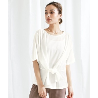 Settimissimo / カットミラノウエストリボンTシャツ WOMEN トップス > Tシャツ/カットソー
