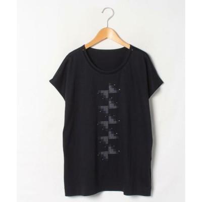 LAPINE ROUGE / ラピーヌ ルージュ ロイヤルクールスムース×刺繍カットソー