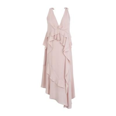 HANITA 7分丈ワンピース・ドレス ライトブラウン M ポリエステル 100% 7分丈ワンピース・ドレス