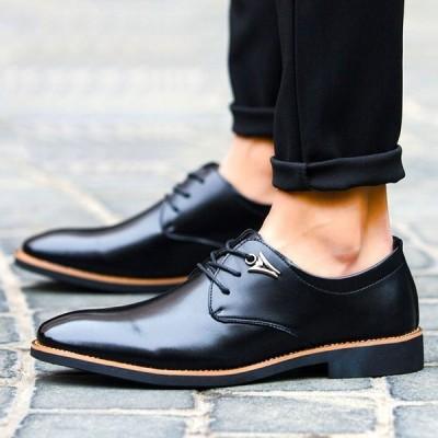 紳士靴 革靴メンズ  新作春 シューズ 革靴 ビジネス 紐靴 ビジネス 革靴 メンズ  結婚式 フォーマル GM