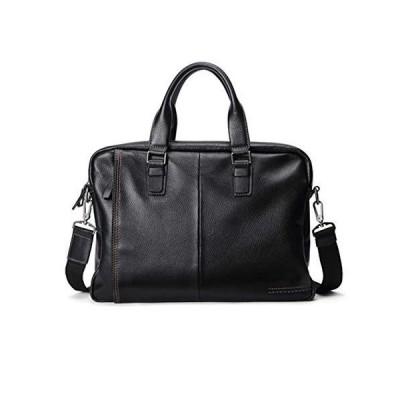 CHUNNONG Backpack Black Business Bag, Men's Shoulder Bag, Laptop Bag, New Leather Men's Briefcase (Color : Black)【並行輸入品】