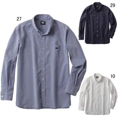 カンタベリー メンズファッション カジュアルシャツ 長袖 ロングスリーブ ストレッチボタンダウンシャツ L/S STRETCH BD SHIRT canterbury RA40578