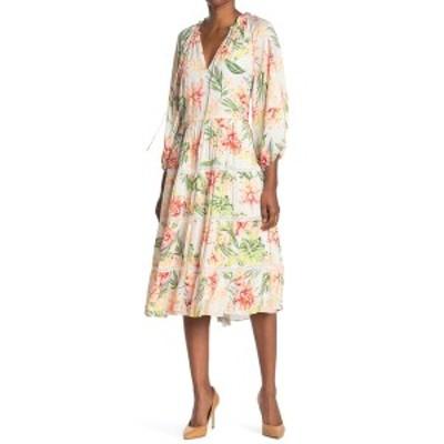 アリス アンド オリビア レディース ワンピース トップス Layla Printed Tiered Dress HIBFLORAL