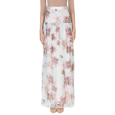 ブルマリン BLUMARINE ロングスカート ピンク 42 シルク 100% ロングスカート