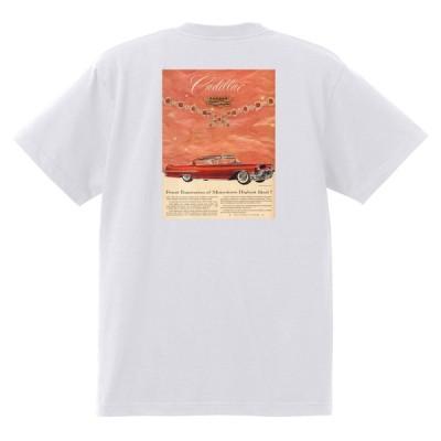 アドバタイジング キャデラック Tシャツ 白 961 黒地へ変更可 1957 オールディーズ ロック 1950's 1960's ロカビリー ホットロッド