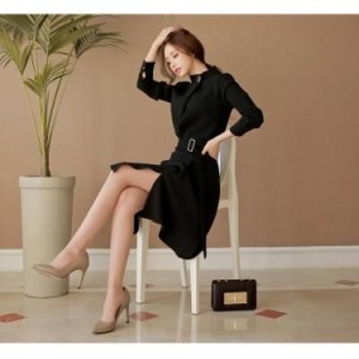 ワンピース 大きいサイズ フレアワンピース  オフィス パーティー 結婚式 お呼ばれ ワンピース 韓国ファッション フォーマル