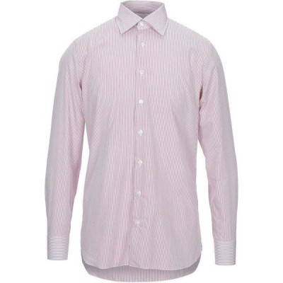 ラルディーニ LARDINI メンズ シャツ トップス Striped Shirt Maroon