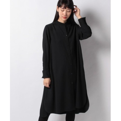 【ラピーヌ ブルー】 トリコチン シャツドレス レディース ブラック 40 LAPINE BLEUE