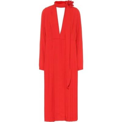 ヴィクトリア ベッカム Victoria Beckham レディース パーティードレス ワンピース・ドレス Pleated chiffon dress Red
