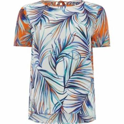 ヒューゴ ボス Boss レディース ブラウス・シャツ ボタニカル柄 トップス Short Sleeve Blouse With Leaf Print Multi Coloured