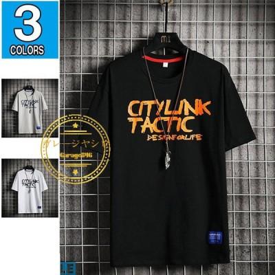 半袖tシャツ メンズ カットソー カジュアル サマーtシャツ クルーネック プリント 夏着 コットン メンズファッション