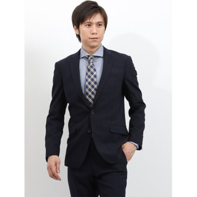 【タカキュー】 ストレッチウォッシャブル ウィンドペン紺 2ピーススーツ  スリムフィット メンズ ネイビー A6 TAKA-Q