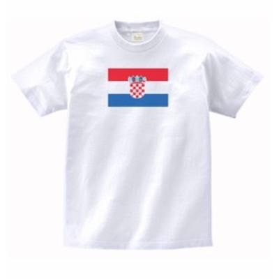 国 国旗 Tシャツ クロアチア 白