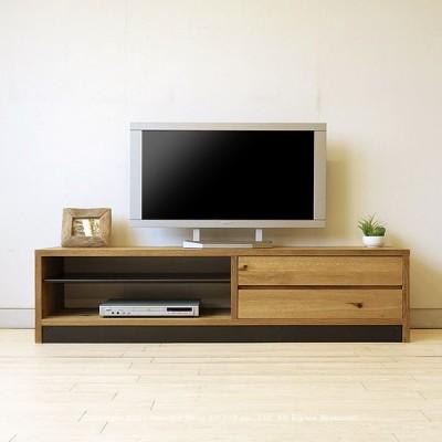 テレビ台 テレビボード ローボード 開梱設置配送 幅160cm ナラ突板 ナラ材 節有材 木製 スチール ヴィンテージ仕上げ アンティーク塗装