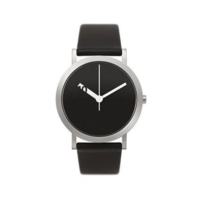 Normal EN-GL02 Extra Normal Grande Stainless Steel Black Unisex Leather Watch 並行輸入品