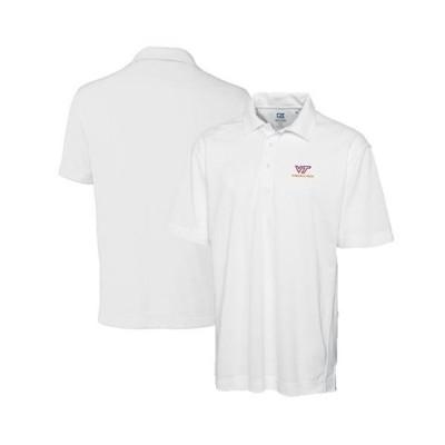ユニセックス スポーツリーグ アメリカ大学スポーツ Virginia Tech Hokies Cutter & Buck Academic Drytec Genre Polo - White