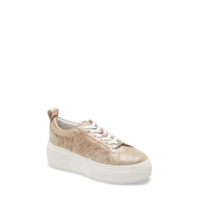 ジェースライズ スニーカー シューズ レディース Costarr Platform Sneaker Gold Leather