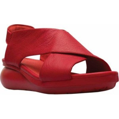 カンペール レディース サンダル シューズ Balloon Slingback Sandal Medium Red Full Grain Leather