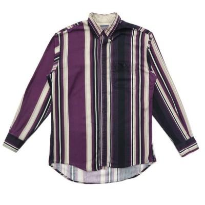 USA製 WRANGLER ラングラー ボタンダウンシャツ ストライプ 長袖 サイズ表記:161/2