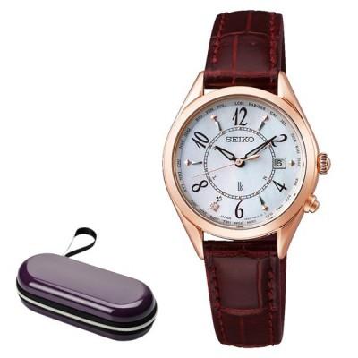(時計ケース付)セイコー SEIKO 腕時計 SSQV078 ルキア LUKIA レディース Lady Collection アラビア数字 電波ソーラー ワニ革バンド アナログ(国内正規品)