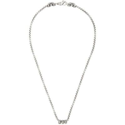 エマニュエレ ビコッキ Emanuele Bicocchi メンズ ネックレス ジュエリー・アクセサリー Silver Round Chain Necklace Silver