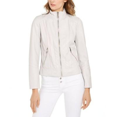 ゲス レディース コート アウター Faux-Leather Jacket