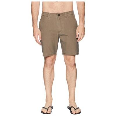 ボルコム Volcom メンズ ショートパンツ ボトムス・パンツ Zap SNT Faded 19 Hybrid Shorts Mushroom