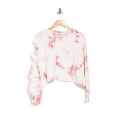 マスタードシード レディース パーカー・スウェットシャツ アウター Tie Dye Print Sleeve Cutout Sweatshirt BAKED ROSE