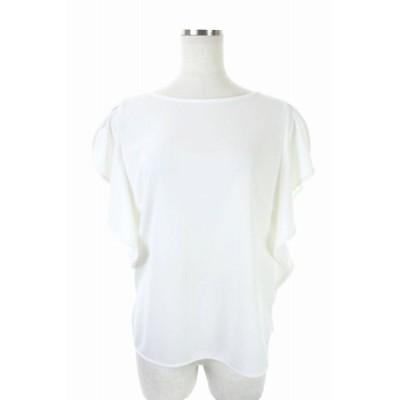 【中古】エムプルミエ M-Premier 18SS フリルトップス カットソー 半袖 36 白 ホワイト /ES ■OS レディース 【ベクトル 古着】