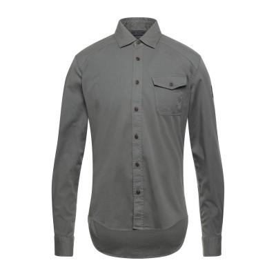 ベルスタッフ BELSTAFF シャツ ダークグリーン S コットン 98% / ポリウレタン 2% シャツ