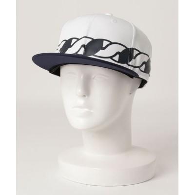 the HOUSE / ローププリント フラットブリムCAP MEN 帽子 > キャップ