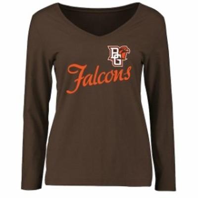 Fanatics Branded ファナティクス ブランド スポーツ用品  Bowling Green St. Falcons Womens Brown Dora Long Sleeve