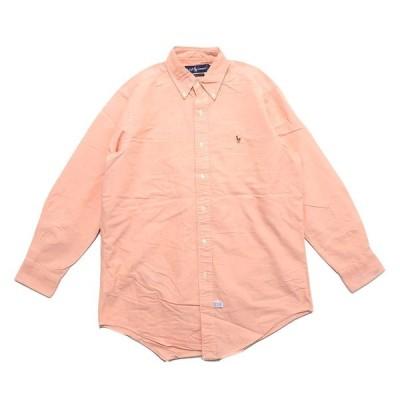 古着 ポロラルフローレン ワンポイント ロゴ ボタンダウンシャツ サイズ表記:15-32 M