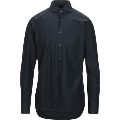 バグッタ BAGUTTA メンズ シャツ トップス Solid Color Shirt Dark blue