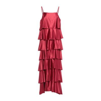 スーベニア SOUVENIR ロングワンピース&ドレス ボルドー S ポリエステル 97% / ポリウレタン 3% ロングワンピース&ドレス