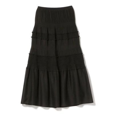 (Ray BEAMS/レイビームス)Ray BEAMS / プリーツ シャーリング スカート/レディース BLACK