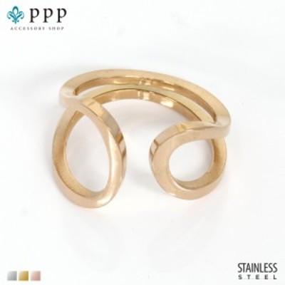 ステンレス リング(111)デザイン ピンクゴールド(メイン) 指輪 金属アレルギー対応 レディース メンズ 送料無料