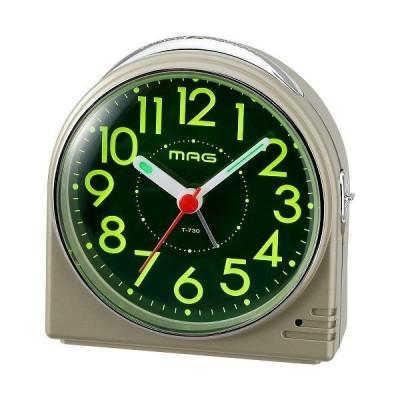 ノア精密 置き時計 シャンペンゴールド 目覚まし時計 蛍 ホタル 連続秒針 T-730 CGM-Z