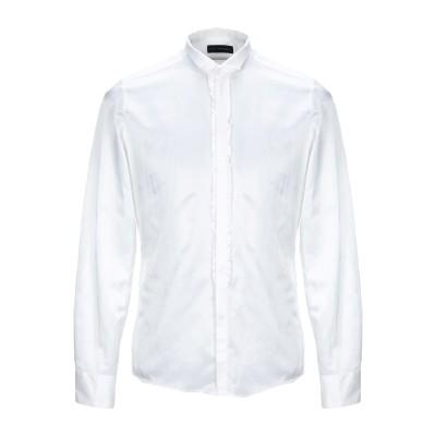CARLO PIGNATELLI シャツ アイボリー 39 シルク 50% / コットン 50% シャツ