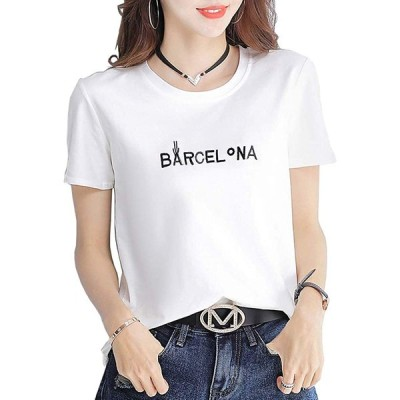 Tシャツ レディース半袖トップス 無地 カットソー ゆったり シンプル コットン Tシャツ 5色
