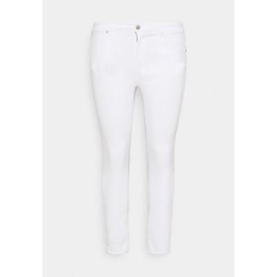 オンリー カルマコマ レディース デニムパンツ ボトムス CARWILLY  LIFE - Jeans Skinny Fit - white denim white denim