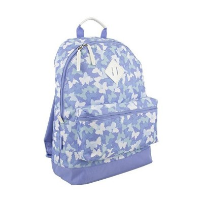 Eastsport Lightweight Stylish Daypack - PeriwinkleWhite Butterfly Print