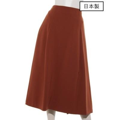 SONO (ソーノ) レディース 【日本製】ダブルクロスミモレフレアスカート BROWN S
