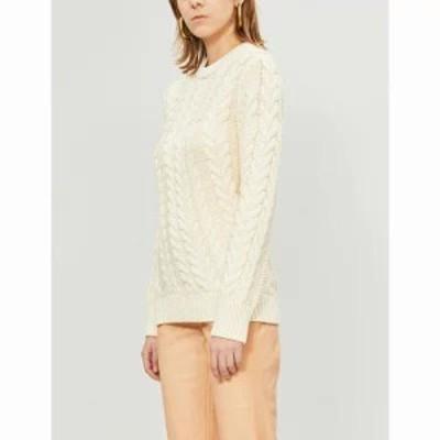 セオリー ニット・セーター twisted cable-knit jumper Ivory