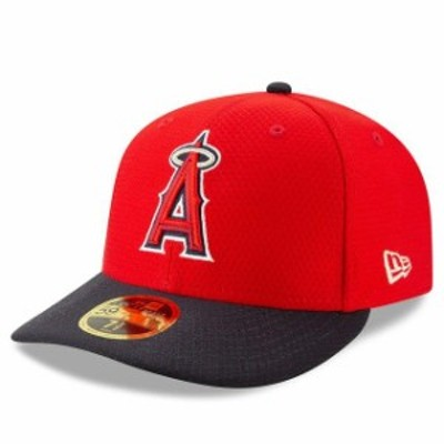 New Era ニュー エラ スポーツ用品  New Era Los Angeles Angels Red/Navy 2019 Batting Practice Low Profile 59FIFTY Fitted Hat