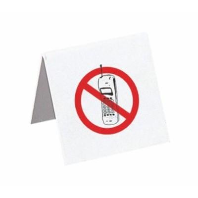 えいむ 店舗用品 テーブルサイン 携帯電話禁止 IP-62