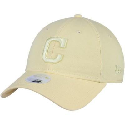 レディース スポーツリーグ メジャーリーグ Cleveland Indians New Era Women's Core Classic 9TWENTY Tonal Pastel Adjustable Hat - Yell